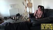 Blonde babe Jaiden West with big fake boobs doi...