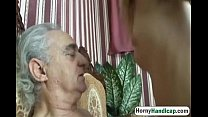Horny old dick gets to fuck a younger slutty ba...