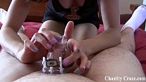 I locked you in chastity while you were napping