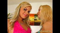 Big tits lesbian babe licked