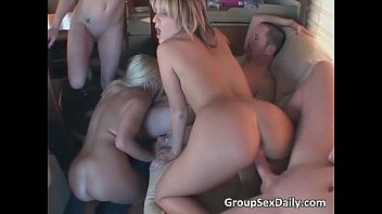 Great gang bang party with some...