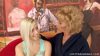 Granny margarette having some lesbian sex xxx with a younger girl