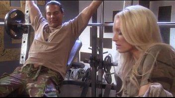 Sue diamond fucking marine in gym roon