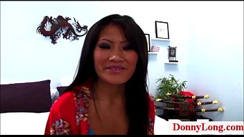 Donny long breaks hard little asian pussy big titty attention whore