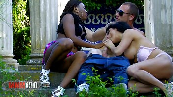Hot interacial outdoor threesome with good squi... | Video Make Love
