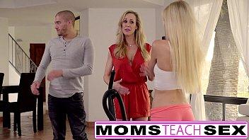 Moms teach sex - big tit mom catches daughter