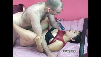 Slutty college girl raven is getting fucked by a geek
