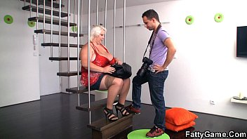 Big tits blonde bbw is doggystyled after photosession