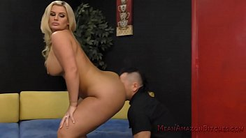 Julie makes her wimp husband eat her ass julie cash
