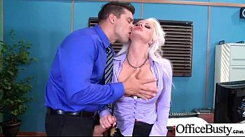 Hardcore sex tape in office with big round boob...