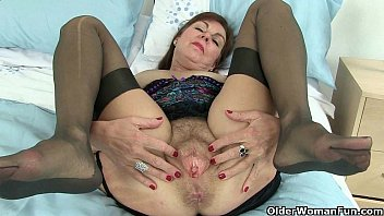 British milf clare strips off her secretary outfit and plays 1