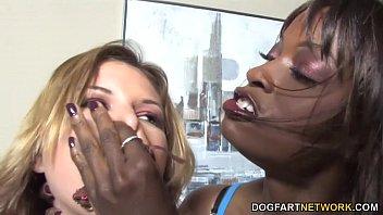 Lesbian punishment sex with leah li..