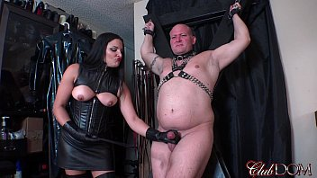 Femdom michele trains slave to eat ..