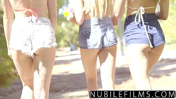 Nubilefilms playful coeds have intense lesbian threesome