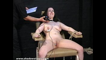 Electro tortured bbw in harsh stool bondage and severe suffering of fa..