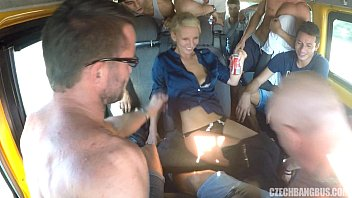 Ultimate Hardcore Orgy in Czech BANG Bus   Video Make Love
