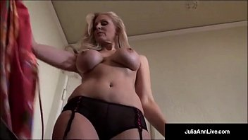 Award winning milf julia ann tries on sexy lingerie outfits!
