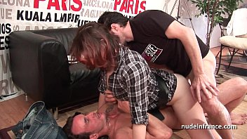 Hard casting french redhead analized and double...