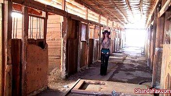 Canadian cowgirl shanda fay gets fucked in the barn!