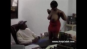 Ebony mama comes for a casting...