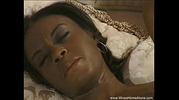 Ebony Wife Enjoys Her Own Body Alone...