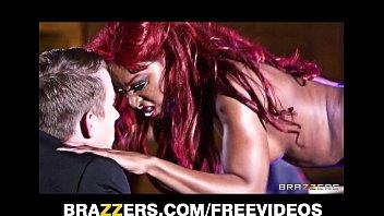 Perky ebony stripper gets fucked hard in the as...