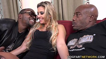 Alana luv get a double dose of black cock