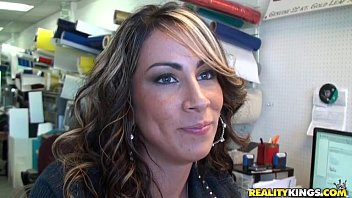 Amy valdes pleases a pair of hard meat poles
