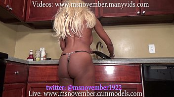 Brother catches step sister naked washing dishes buy full video now