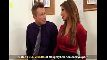 Madison ivy busty secretarygets tit fucked by her bosses big cock on o..