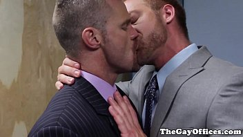 Videso Gays Suited gay assfucked hunky colleagues asshole