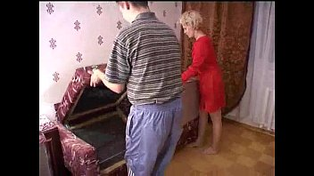 Russian mature mom and a friend of her son! ...