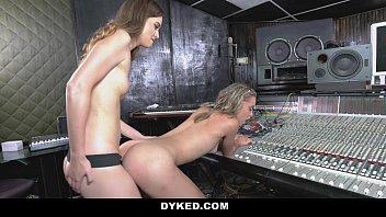 Dyked horny lesbian producer seduces teen