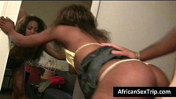 Booty african babe hardcore fucked ..