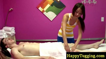 Petite asian masseuse on spycam suc..