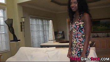 Ebony teen jizz sprayed