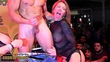 Public porno casting