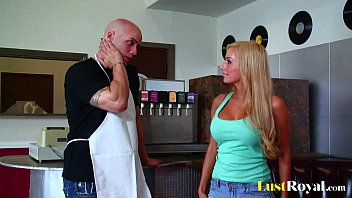 Busty blonde mariah madysinn takes a big one