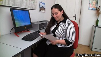 Plumper and client have sex xxx in office