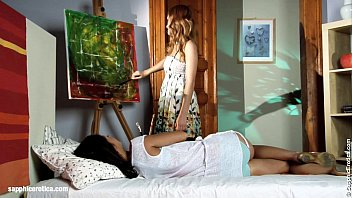 Seduced painter by sapphic erotica - lesbian love porn with hailee - heaven