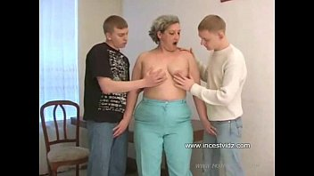 Brutal hardcore action with mother son and his friend
