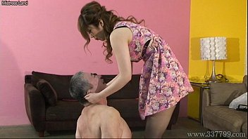 Japanese mistress spits on slaves and makes slaves get foods stepped o..