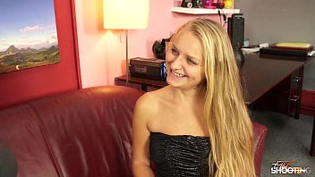 Fakeshooting - blue eyed teen fucks hardcore in her party dress