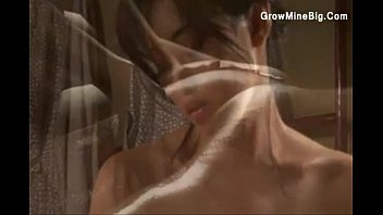 Japanese lesbians sensually rub oil on each ...
