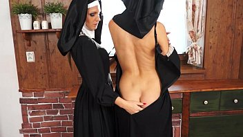Nasty catholic nuns making sins and licking pussy
