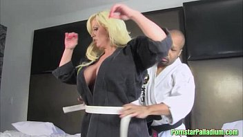 Posh pornstar karate training