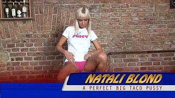 Natali blond striptease slut