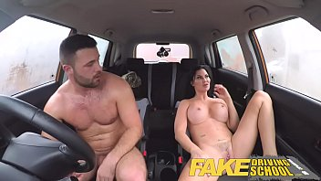 Fake driving school lucky young lad seduced by his busty milf examiner..