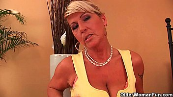 Hot gilf fucks herself with a dildo | Video Make Love
