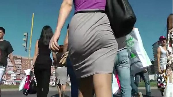 Big ass walking in the street